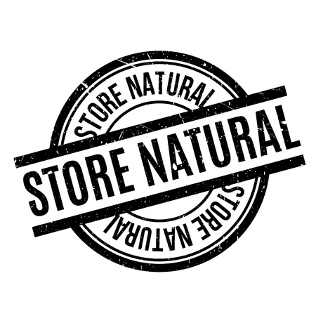 Store Natural rubber stamp. Grunge design with dust scratches. Effects can be easily removed for a clean, crisp look. Color is easily changed. Illustration