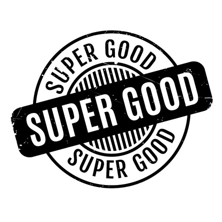 sensational: Super Good rubber stamp. Grunge design with dust scratches. Effects can be easily removed for a clean, crisp look. Color is easily changed.