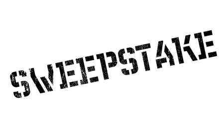 sweepstake: Sweepstake rubber stamp. Grunge design with dust scratches. Effects can be easily removed for a clean, crisp look. Color is easily changed.