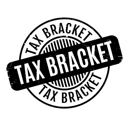 tax bracket: Tax Bracket rubber stamp. Grunge design with dust scratches. Effects can be easily removed for a clean, crisp look. Color is easily changed.