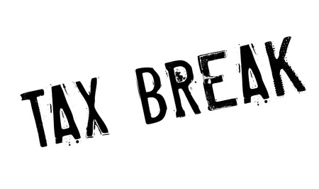 indirect: Tax Break rubber stamp. Grunge design with dust scratches. Effects can be easily removed for a clean, crisp look. Color is easily changed.