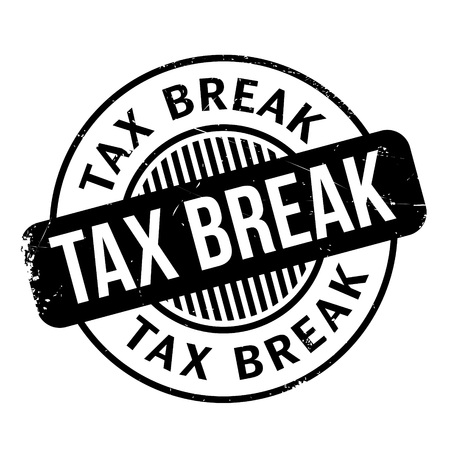 Tax Break rubber stamp. Grunge design with dust scratches. Effects can be easily removed for a clean, crisp look. Color is easily changed.