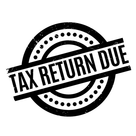 Tax Return Due rubber stamp. Grunge design with dust scratches. Effects can be easily removed for a clean, crisp look. Color is easily changed. Illustration