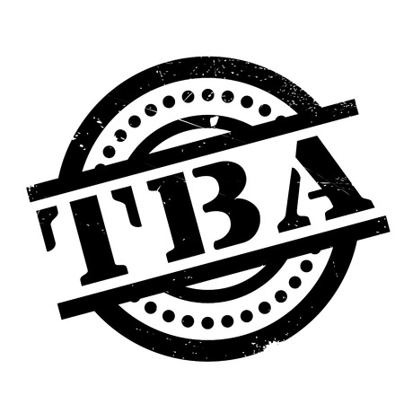 Tba rubber stamp. Grunge design with dust scratches. Effects can be easily removed for a clean, crisp look. Color is easily changed.