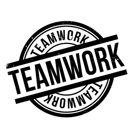 workforce: Teamwork rubber stamp. Grunge design with dust scratches. Effects can be easily removed for a clean, crisp look. Color is easily changed.