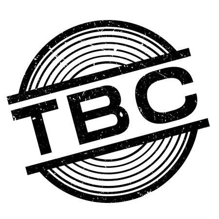 Tbc rubber stamp. Grunge design with dust scratches. Effects can be easily removed for a clean, crisp look. Color is easily changed.