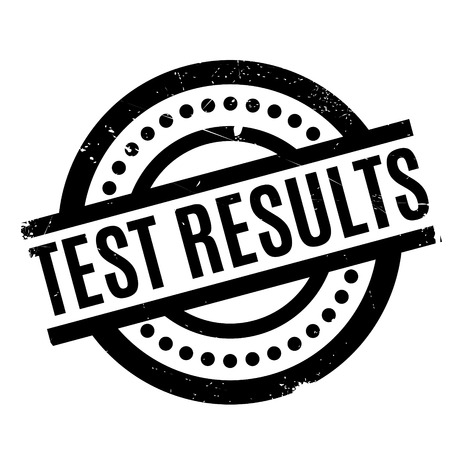 Test Results rubber stamp. Grunge design with dust scratches. Effects can be easily removed for a clean, crisp look. Color is easily changed. Illustration