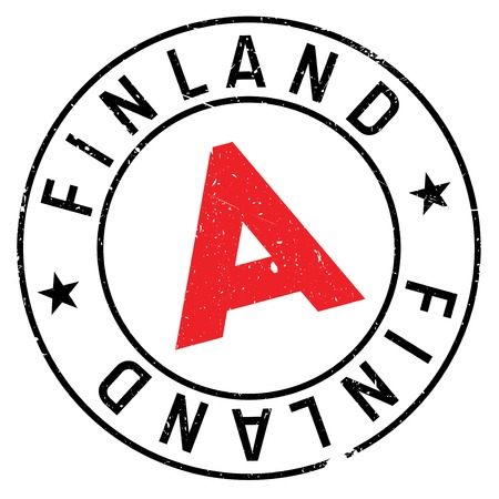 Finland stamp. Grunge design with dust scratches. Effects can be easily removed for a clean, crisp look. Color is easily changed.