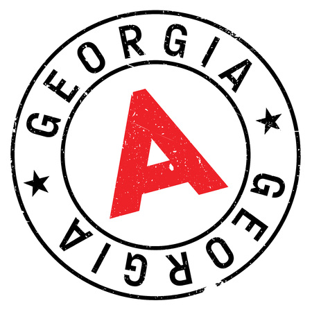 Georgia stamp. Grunge design with dust scratches. Effects can be easily removed for a clean, crisp look. Color is easily changed. Illustration