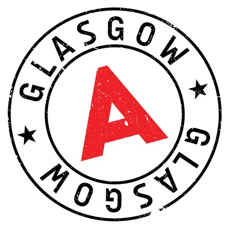 Glasgow stamp. Grunge design with dust scratches. Effects can be easily removed for a clean, crisp look. Color is easily changed. Illustration