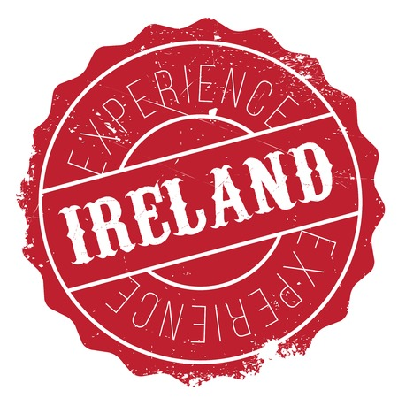 Ireland stamp. Grunge design with dust scratches. Effects can be easily removed for a clean, crisp look. Color is easily changed.