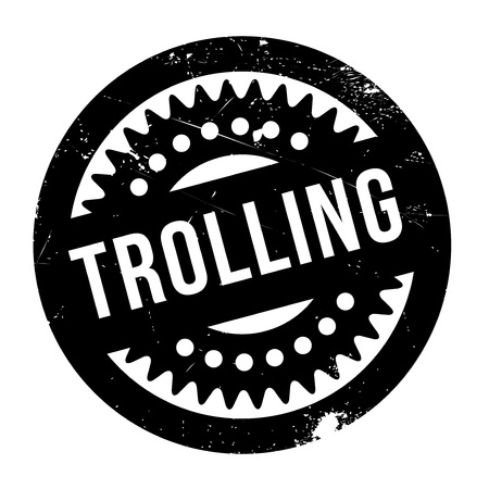 harass: Trolling rubber stamp. Grunge design with dust scratches. Effects can be easily removed for a clean, crisp look. Color is easily changed. Illustration
