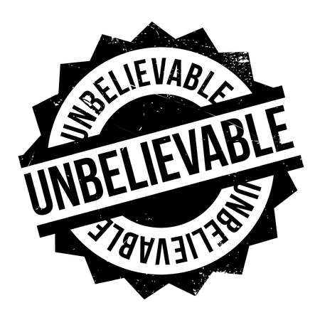 implausible: Unbelievable rubber stamp. Grunge design with dust scratches. Effects can be easily removed for a clean, crisp look. Color is easily changed.