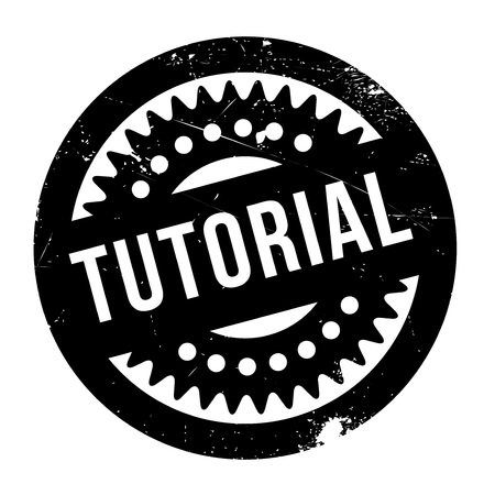 Tutorial rubber stamp. Grunge design with dust scratches. Effects can be easily removed for a clean, crisp look. Color is easily changed. Векторная Иллюстрация