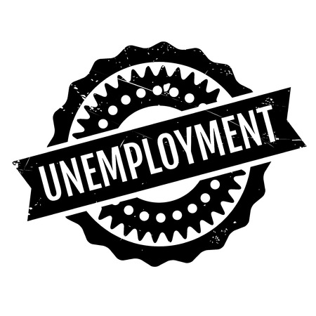 employed: Unemployment rubber stamp. Grunge design with dust scratches. Effects can be easily removed for a clean, crisp look. Color is easily changed. Illustration