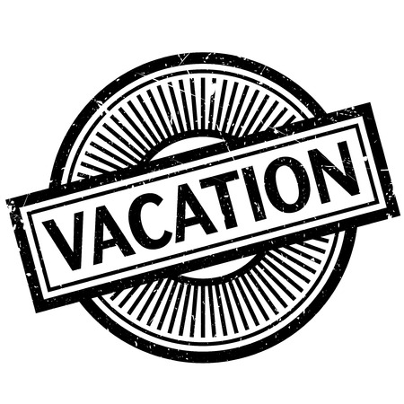Vacation rubber stamp. Grunge design with dust scratches. Effects can be easily removed for a clean, crisp look. Color is easily changed.