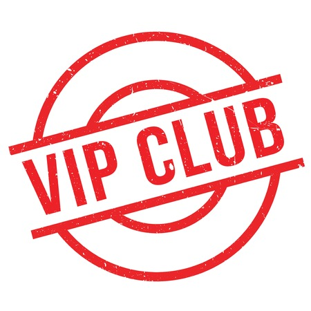 public figure: Vip Club rubber stamp. Grunge design with dust scratches. Effects can be easily removed for a clean, crisp look. Color is easily changed.