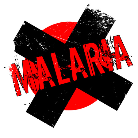 infectious disease: Malaria rubber stamp. Grunge design with dust scratches. Effects can be easily removed for a clean, crisp look. Color is easily changed. Illustration