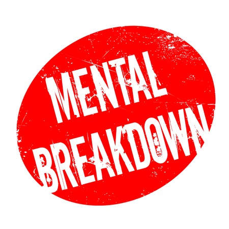 Mental Breakdown rubber stamp. Grunge design with dust scratches. Effects can be easily removed for a clean, crisp look. Color is easily changed. Vektorové ilustrace