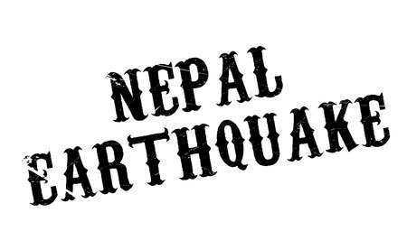 quake: Nepal Earthquake rubber stamp. Grunge design with dust scratches. Effects can be easily removed for a clean, crisp look. Color is easily changed. Illustration