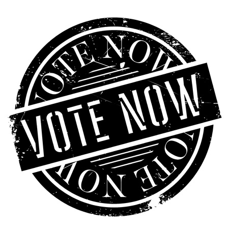 Vote Now rubber stamp. Grunge design with dust scratches. Effects can be easily removed for a clean, crisp look. Color is easily changed. 일러스트