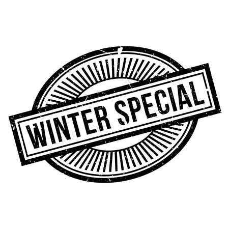 Winter Special rubber stamp. Grunge design with dust scratches. Effects can be easily removed for a clean, crisp look. Color is easily changed.