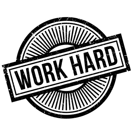 tiredness: Work Hard rubber stamp. Grunge design with dust scratches. Effects can be easily removed for a clean, crisp look. Color is easily changed.