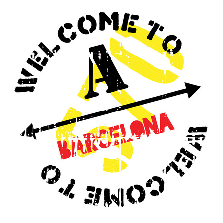 barcelona: Barcelona stamp. Grunge design with dust scratches. Effects can be easily removed for a clean, crisp look. Color is easily changed.