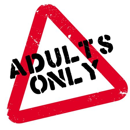 Adults Only rubber stamp. Grunge design with dust scratches. Effects can be easily removed for a clean, crisp look. Color is easily changed. Illustration
