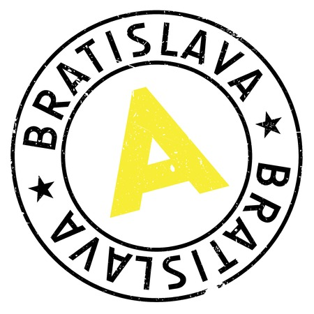 Bratislava stamp. Grunge design with dust scratches. Effects can be easily removed for a clean, crisp look. Color is easily changed. Illustration