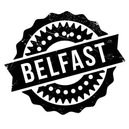 english culture: Belfast stamp. Grunge design with dust scratches. Effects can be easily removed for a clean, crisp look. Color is easily changed. Illustration