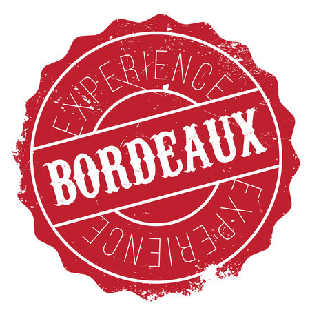 french culture: Bordeaux stamp. Grunge design with dust scratches. Effects can be easily removed for a clean, crisp look. Color is easily changed. Illustration