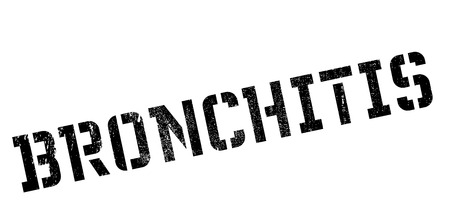 chronic bronchitis: Bronchitis rubber stamp. Grunge design with dust scratches. Effects can be easily removed for a clean, crisp look. Color is easily changed.