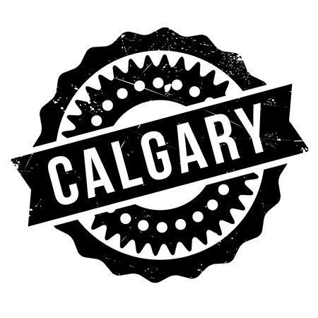 alberta: Calgary stamp. Grunge design with dust scratches. Effects can be easily removed for a clean, crisp look. Color is easily changed.