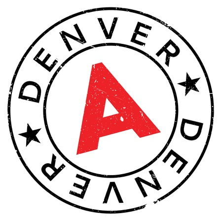 Denver stamp. Grunge design with dust scratches. Effects can be easily removed for a clean, crisp look. Color is easily changed.