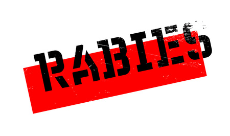 Rabies rubber stamp. Grunge design with dust scratches. Effects can be easily removed for a clean, crisp look. Color is easily changed. Illustration