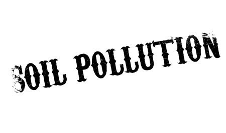 spillage: Soil Pollution rubber stamp. Grunge design with dust scratches. Effects can be easily removed for a clean, crisp look. Color is easily changed.