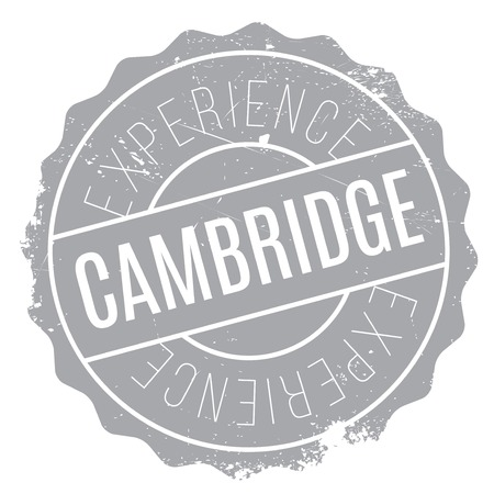 english culture: Cambridge stamp. Grunge design with dust scratches. Effects can be easily removed for a clean, crisp look. Color is easily changed. Illustration