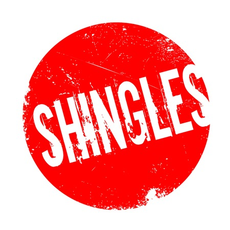 infectious disease: Shingles rubber stamp. Grunge design with dust scratches. Effects can be easily removed for a clean, crisp look. Color is easily changed.