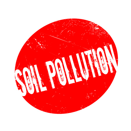 Soil Pollution rubber stamp. Grunge design with dust scratches. Effects can be easily removed for a clean, crisp look. Color is easily changed.