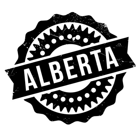 alberta: Alberta stamp. Grunge design with dust scratches. Effects can be easily removed for a clean, crisp look. Color is easily changed.