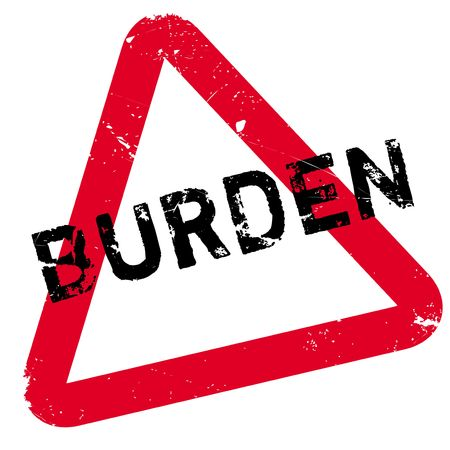 concern: Burden rubber stamp. Grunge design with dust scratches. Effects can be easily removed for a clean, crisp look. Color is easily changed.