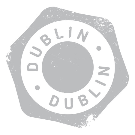 eire: Dublin stamp. Grunge design with dust scratches. Effects can be easily removed for a clean, crisp look. Color is easily changed. Illustration