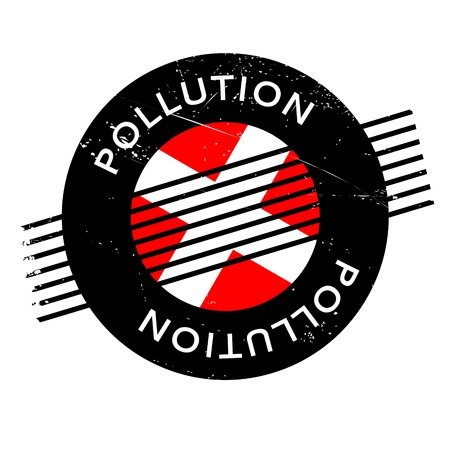 air awareness: Pollution rubber stamp. Grunge design with dust scratches. Effects can be easily removed for a clean, crisp look. Color is easily changed.