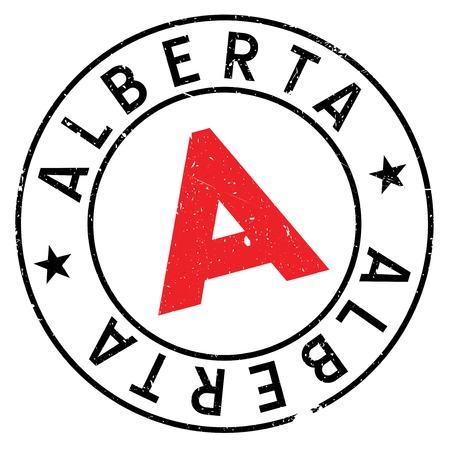 Alberta stamp. Grunge design with dust scratches. Effects can be easily removed for a clean, crisp look. Color is easily changed.