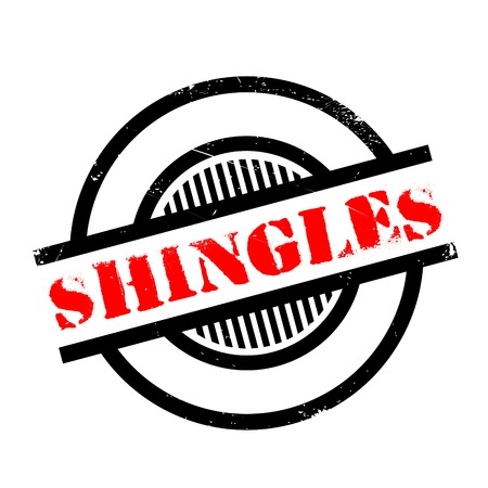 chickenpox: Shingles rubber stamp. Grunge design with dust scratches. Effects can be easily removed for a clean, crisp look. Color is easily changed.
