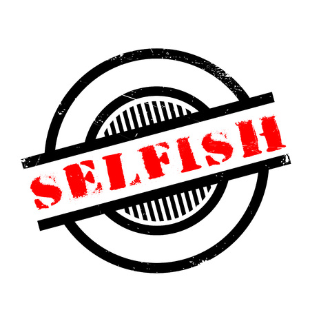 narcissistic: Selfish rubber stamp. Grunge design with dust scratches. Effects can be easily removed for a clean, crisp look. Color is easily changed. Illustration