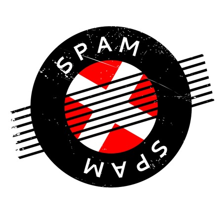 denial: Spam rubber stamp. Grunge design with dust scratches. Effects can be easily removed for a clean, crisp look. Color is easily changed. Illustration