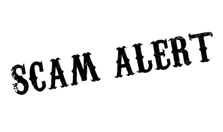 watchful: Scam Alert rubber stamp. Grunge design with dust scratches. Effects can be easily removed for a clean, crisp look. Color is easily changed.