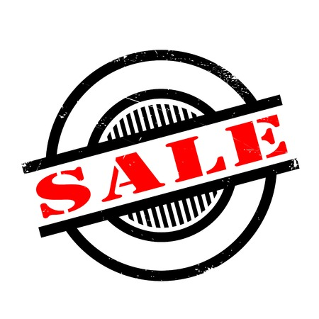 Sale rubber stamp. Grunge design with dust scratches. Effects can be easily removed for a clean, crisp look. Color is easily changed.